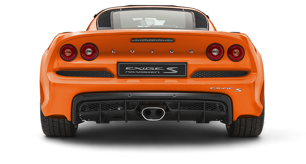 Exige-S-Roadster-rear-on-Metallic-Dark-Orange-#db5207